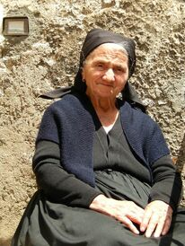 Typical dress of the women in Scanno.