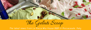 Gelati Scoop newsletter with Italian ice cream in many flavors.